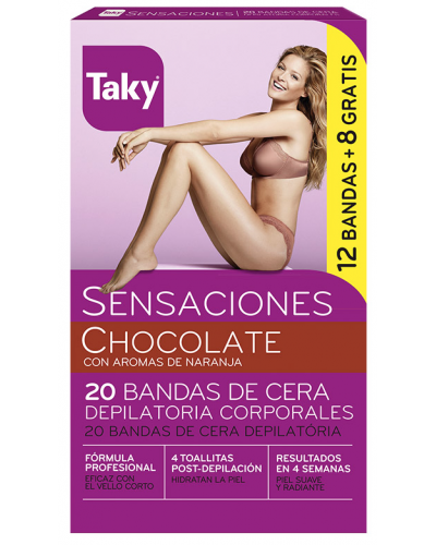 Chocolate Body Wax Strips