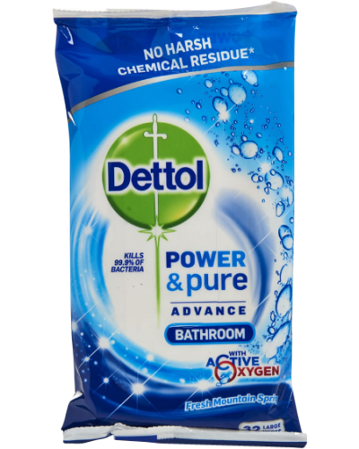 Power & Pure Bathroom Cleaning Wipes
