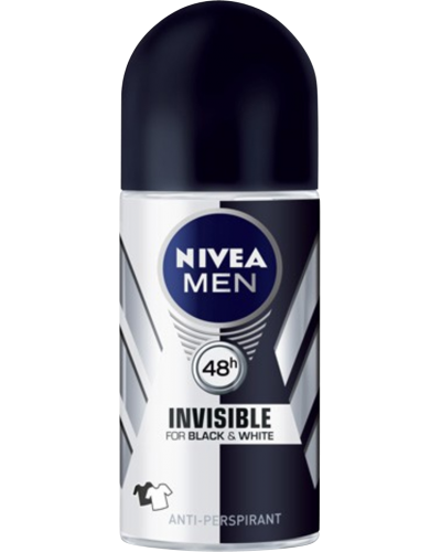 Men Invisible Roll-On Deodorant Black & White